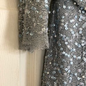COPY - Adrianna Papell Silver Sequin Formal Mothe…